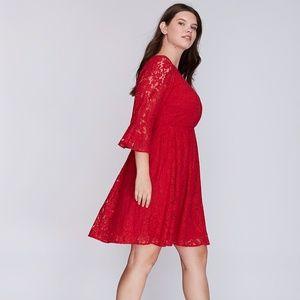 Lane Bryant Red Lace Dress NWT Size 20